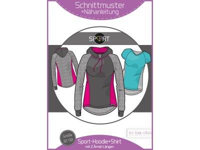 Papierschnittmuster ki-ba-doo Sport-Shirt & Hoodie Damen