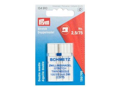Schmetz Stretch Zwillings-Nadeln 1 Stk. 75/2,5mm Prym