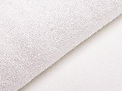 Französischer Doubleface Bambus Frottee Fleece - uni weiß