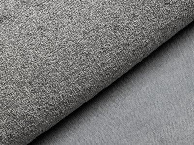 Französischer Doubleface Bambus Frottee Fleece - uni grau