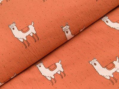 Gew. Baumwollstoff - Lamas - rost