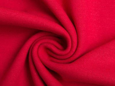 Glattes Bündchen im Schlauch uni - rot