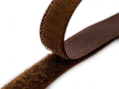 Klettband zum Aufnähen Flauschband & Hakenband ca. 20 mm - braun