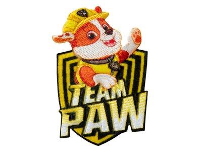 Applikation zum Aufbügeln Paw Patrol - Team Rubble - gelb