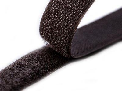 Klettband zum Aufnähen Flauschband & Hakenband ca. 20 mm - schokobraun