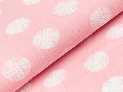Jersey - große Punkte - rosa