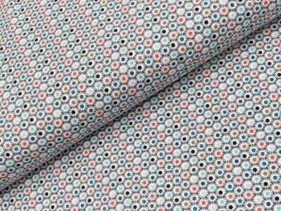 Jersey - Retrodots - grau  orange/mint