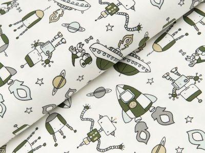 Jersey - Ufos und Raumschiffe - wollweiß