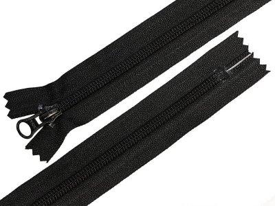 Reißverschluss YKK teilbar 74 cm - schwarz