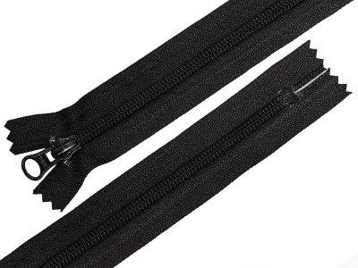 Reißverschluss YKK nicht teilbar 66 cm - schwarz