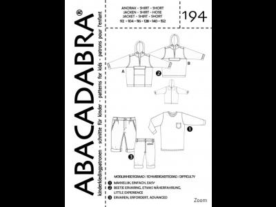 Abacadabra Schnittmuster-Set Jacke/Shirt/Hose - Kinder