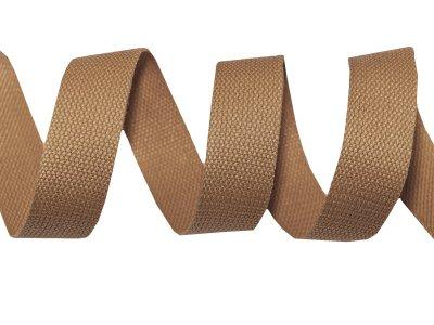 Gurtband Baumwolle 5 Meter Rolle - 30 mm - uni braun
