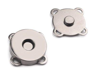 Magnetverschluss 4 Stk. ( 16 Teile ) zum Annähen Ø18 mm - schwarz