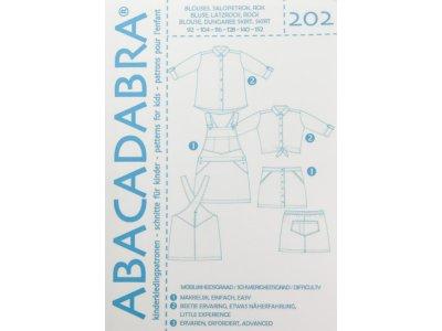 Abacadabra Schnittmuster-Set Bluse, Latzrock und Rock - Mädchen