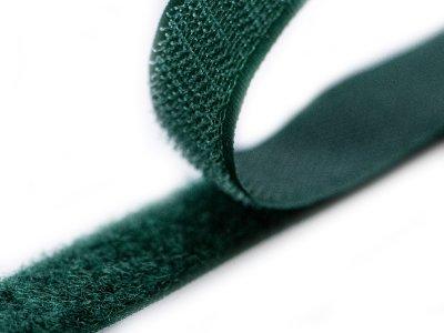 Klettband zum Aufnähen Flauschband & Hakenband ca. 20 mm - flaschengrün