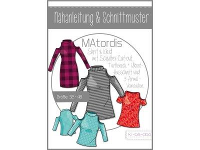 Papierschnittmuster ki-ba-doo MAtordis Turtleneck Shirt & Kleid Damen