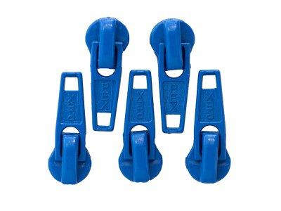 Slider/Zipper/Automatikschieber für Reißverschlüsse Größe 5 - Set 5 Stück - royalblau
