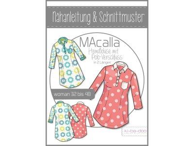Papierschnittmuster ki-ba-doo MAcalla Polo-Hemd-Bluse Damen