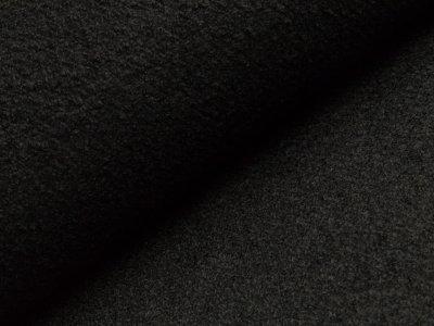 Bouclé Mantelstoff - schwarz