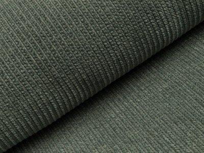 Chenille Strickstoff - Rippstrick - graugrün