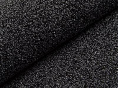 Bouclé Mantelstoff  Two Tone - grau/schwarz
