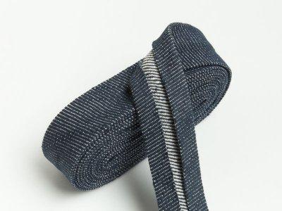 Jeans Schrägband gefalzt 20 mm x 2 m  - jeans blau
