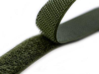 Klettband zum Aufnähen Flauschband & Hakenband ca. 20 mm - olive
