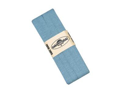 Jersey Schrägband Oaki doki gefalzt 20 mm x 3 m - petrol