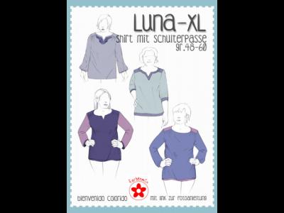 Papierschnittmuster Farbenmix  Luna-XL  Plus-Size Damenshirt