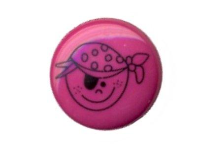 Knopf Frecher Pirat pink 18mm