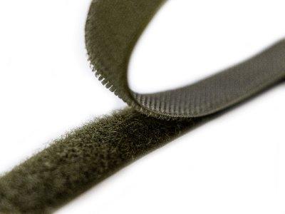 Klettband zum Aufnähen Flauschband & Hakenband ca. 20 mm - khaki