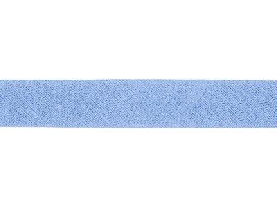 Hochwertiges Schrägband Baumwolle gefalzt 20 mm - uni blau