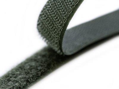 Klettband zum Aufnähen Flauschband & Hakenband ca. 20 mm - waldgrün