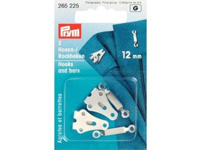 Prym Hosen/Rockhaken und Stege 12mm - silberfarben