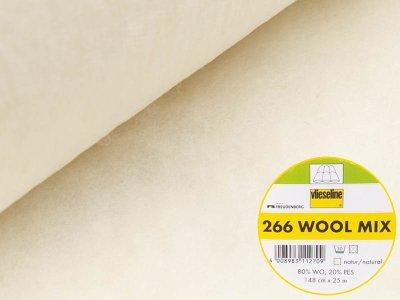 Volumenvlies Woll-Mix 266 von Freudenberg Vlieseline zum Einnähen 148 cm natur