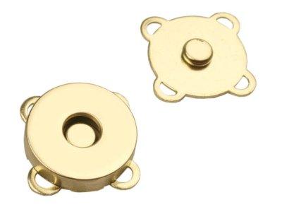 Magnetverschluss 4 Stk. ( 16 Teile )  zum Annähen Ø18 mm - gold