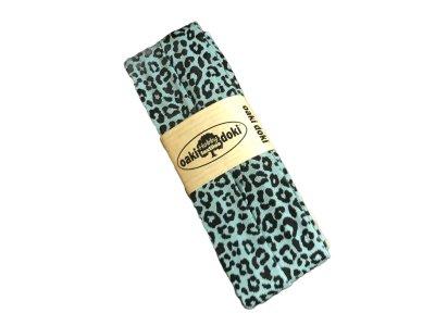 Jersey Schrägband Oaki doki gefalzt 20 mm x 3 m - Animalprint - altmint