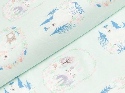 Jersey Hilco - Festive Forrest - pastell mint