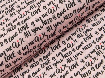 Jersey Hilco Loveletter - Schriftzüge  - rosa