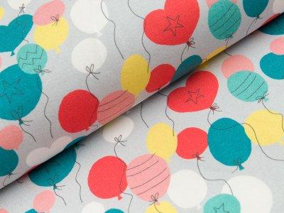 Jersey Hilco Fun House - bunte Luftballons - grau