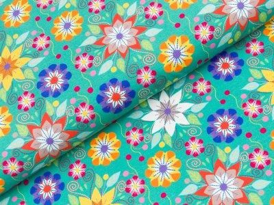 Jersey Hilco La La Lama - Blumen - grün