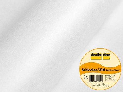 Stickvlies Vlieseline ausreißbar 90 cm breit weiß