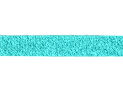 Hochwertiges Schrägband Baumwolle gefalzt 20 mm - uni türkis