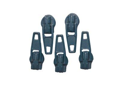 Slider / Zipper / Automatikschieber für Reißverschlüsse Größe 3 - Set 5 Stück anthrazit