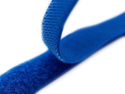 Klettband zum Aufnähen Flauschband & Hakenband ca. 20 mm - kobaltblau