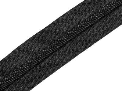 Endlosreißverschluss 5mm - schwarz