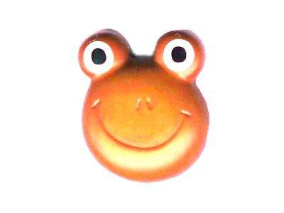 Knopf 20 mm Froschkopf orange