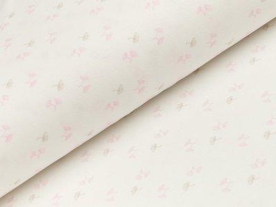 Interlock Sanetta - kleine Pusteblumen - wollweiß