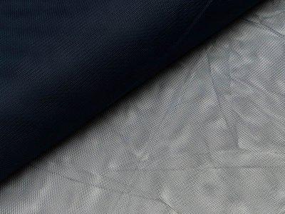 Tüll - uni nachtblau