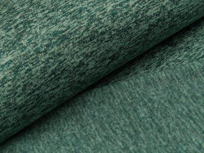 Angerauter Strickstoff  - meliert altgrün